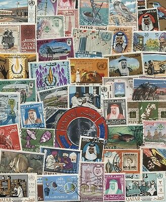 50 Different Qatar Stamps - all Used mixture *Free Post*