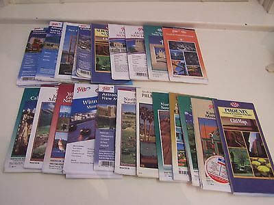 Lot of 21 AAA Road Maps of States and Cities