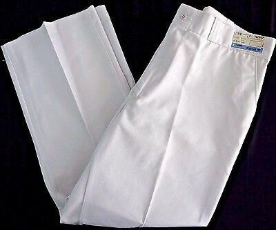 NOS VINTAGE SEARS WORK WEAR leisure pants slacks mens 38x28 white NWT 70s 80s