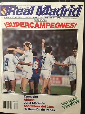 1988-89 European Cup.Real Madrid vs Moss FC. 1st leg