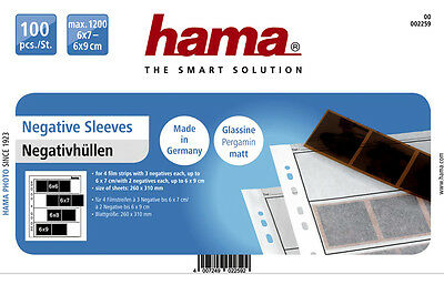 Hama 120 Negative Strip Sleeves 25 Storage Ring Binder Pages - SEMI-CLEAR