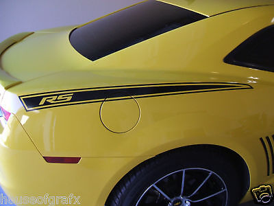 Quarter panel decal decals stripe stripes fits 2010 2011 2012 2013 Camaro SS RS