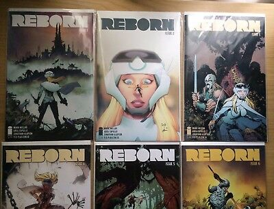 REBORN full set #1, 2, 3, 4, 5, and 6 First Prints MARK MILLAR IMAGE comics