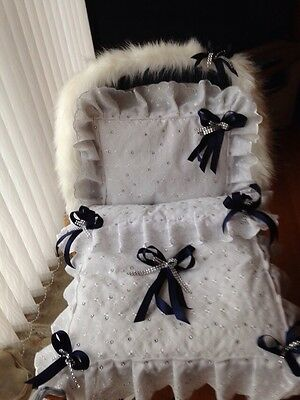 SILVER CROSS COACH BUILT Pram set   + FUR HOOD TRIM