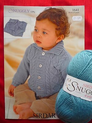 Sirdar Snuggly 4ply Baby Cable Cardigan Knitting Kit