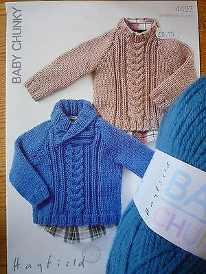 Hayfield Baby Chunky Sweaters Knitting Kit