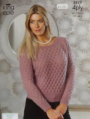 King Cole Big Value 4ply Ladies Sweater Knitting Kit