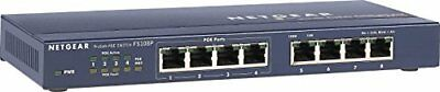 NETGEAR FS108PEU ProSAFE 8 Port 10100 Unmanaged Switch with Power Over Ethernet