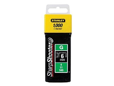 Stanley 1-TRA704T Type G Staples, Silver, 6 mm, Set of 1000 Piece