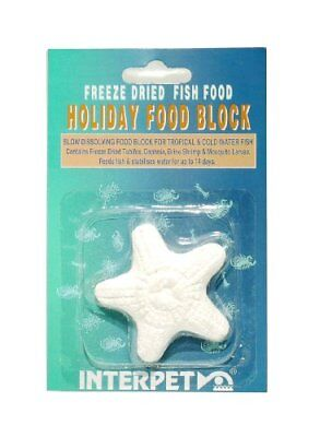 Interpet Slow Release Holiday Mineral Fish Food Block with Freeze Dried Food