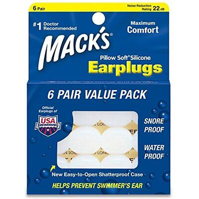 Macks Pillow Soft Moldable Silicone Putty Earplugs 6 Pairs x 3 18 Pairs