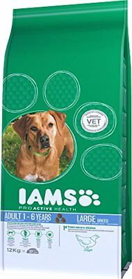 Iams Dry Dog Food with Adult Large Breed Chicken 12 kg