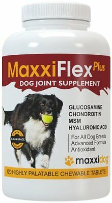MaxxiDog - MaxxiFlex Plus Dog Joint Supplement with Glucosamine, Chondroitin, MS
