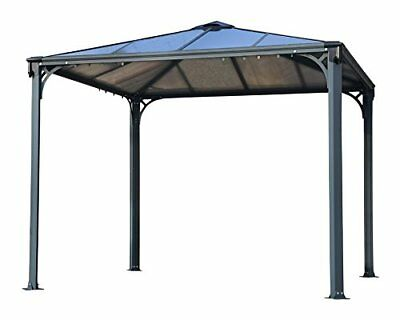Palram Palermo 3000 Grey Garden Gazebo - Robust Structure for Year-Round Use