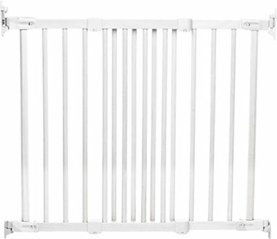 BabyDan Flexifit Wooden Safety Gate White