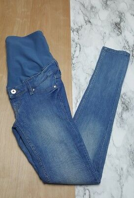 H&M Mama Super Skinny Stretch High Rib Denim Full Panel Maternity Jeans Size 4