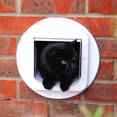 BEST Cat Flap Tunnel Extender Microchip Door Installed In Wall 7 cm Long White