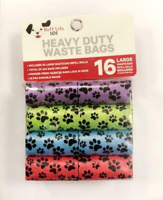 Ruff Life Dog Waste Poop Bags- 240 COUNT- Heavy Duty- Scented- Biodegradable