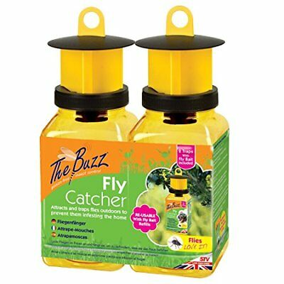The Buzz Fly Catcher Super Effective, Refillable Insect Attractant for Outdoor