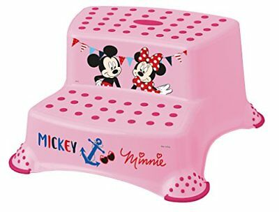 Disney Baby Minnie Mouse Double Step Stool with Non Slip Feet