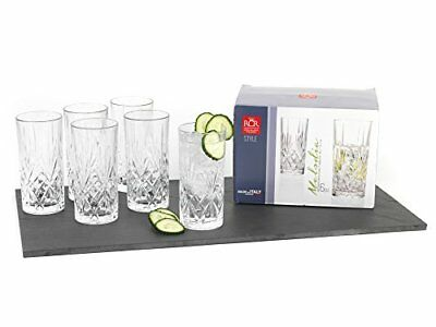 RCR 25766020006 Melodia Crystal Hi-Ball Tumblers Glasses, Set of 6