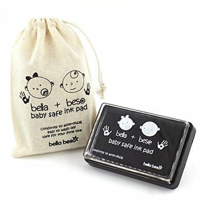 Baby Footprint Kit - Easy Clean Baby-Safe Black Ink Pad for baby hand prints and