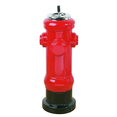 "POPPY DESIGN STAND ASHTRAY ""HYDRANT"" 23.5"" red"