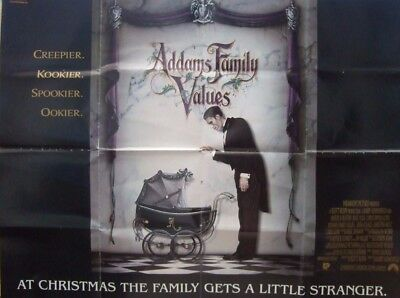 ADDAMS FAMILY VALUES(1993) Original UK quad advance movie poster