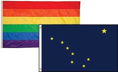 2x3 Gay Pride Rainbow /& State Texas 2 Pack Flag Wholesale Combo 2/'x3/'