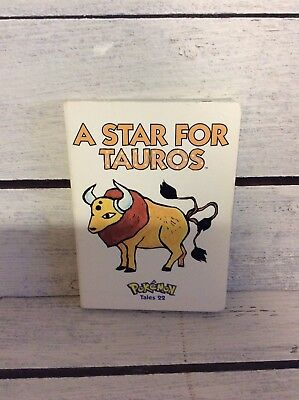 A Star For Tauros Pokemon Tale 22 Board Book Nintendo Extremely RARE!