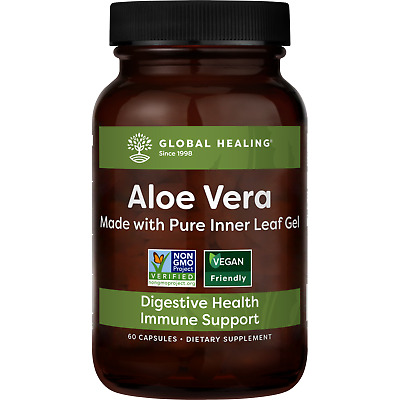 Aloe Fuzion - Aloe Vera Pills / 60 Capsules for Digestion, Joints & Vibrant Skin