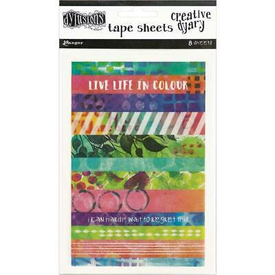 Dylusions Washi Tape Strips - 8 Sheets of Colour