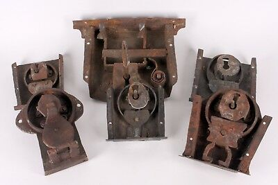 ANTIQUE 18th 19th C. HAND FORGED IRON STEEL SKELETON KEY FURNITURE DOOR LOCK LOT