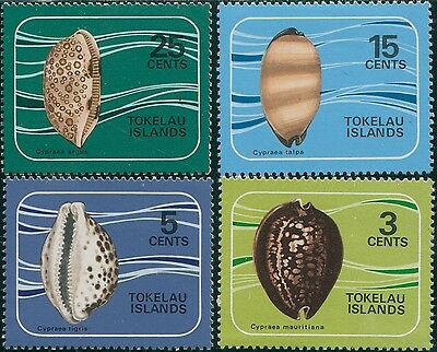 Tokelau 1974 SG41-44 Shells set MNH