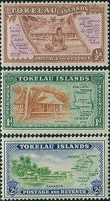 Tokelau 1948 SG1-3 Definitives MNH