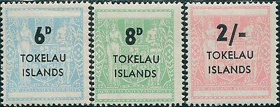 Tokelau 1966 SG6-8 NZ Arms surcharges MNH