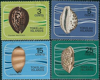 Tokelau 1974 SG41-44 Shells set FU