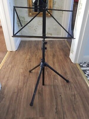 Metal Orchestral Sheet Holder Foldable Music Stand Adjustable Height
