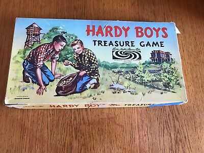 Hardy Boys Treasure Game 1957 Parker brothers Board Game
