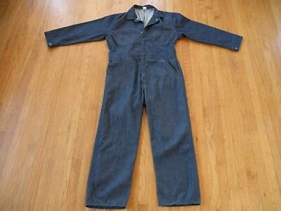 Vintage Sears Selvedge Denim Coverall Uniform Overall 44R