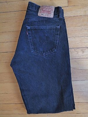Vintage Levi's 501 Button Fly Black Jeans 31 x 30 Made in USA