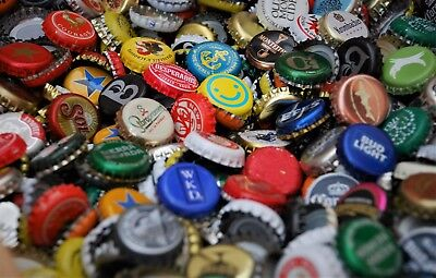 200 bottle tops crown caps / random world beer and soft drinks / good condition