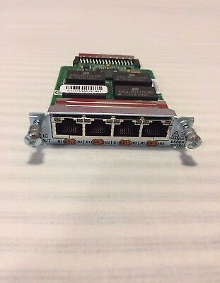 Cisco HWIC-4B-S/T 4-Port ISDN BRI S/T High-Speed WAN Interface Card