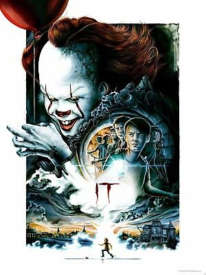 IT Movie 2017 Stephen King A3 Film Poster Pennywise