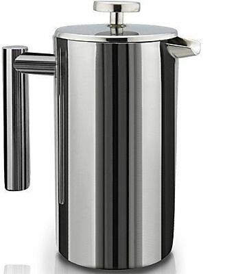 SterlingPro Double Wall Stainless Steel French Coffee Press Maker, 1 Liter-NEW