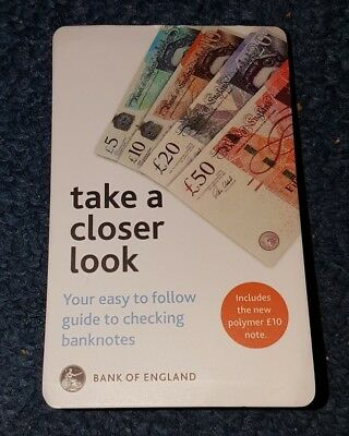 Pocket Size Guide New £10 Polymer Note & All Current Issue Notes