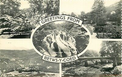 b1157 Betws-y-Coed, Denbighshire, Wales RP postcard unposted