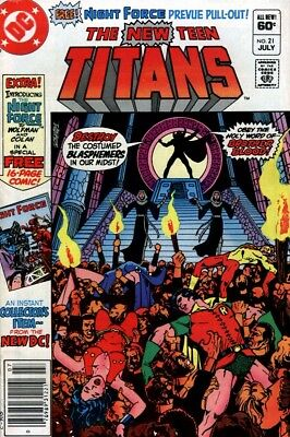 New Teen Titans #21 DC COMICS 1982, 1st Appearance BROTHER BLOOD & THE MONITOR