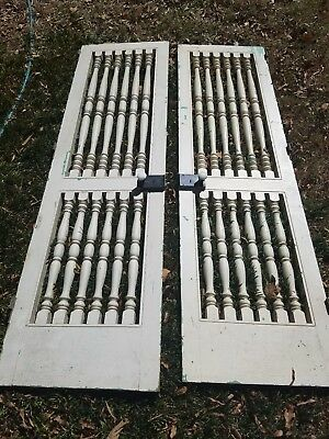 Antique 1900s Spindle French Doors with Hardware Kennedy estate