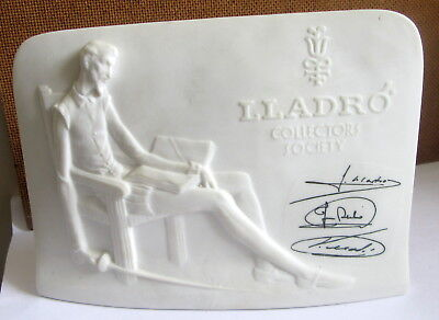 Vintage Lladro Collectors Society Signed Porcelain Don Quixote Plaque
